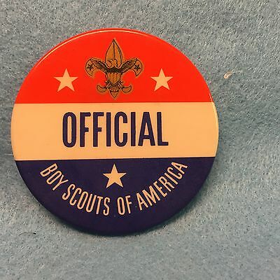 """Boy Scouts - vintage Boy Scouts of America """"OFFICIAL"""" pinback"""