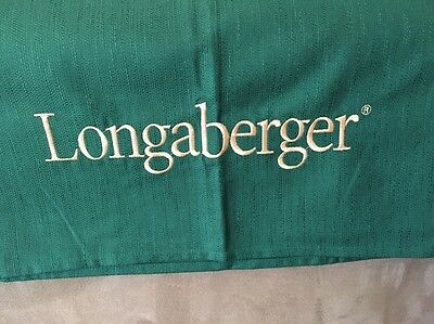 Longaberger Ivy Green 8' Banquet Table Embroidered Fabric Tablecloth - Award