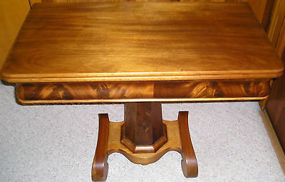 Antique Wooden (Walnut) Gaming Table (Mid-1800's)