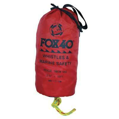 Boat Marine Safety Equipment 50 Foot Lifeline Rescue Throw Bag Braided Rope Fox