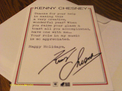 Kenny Chesney 2014 Holiday Thank You Card