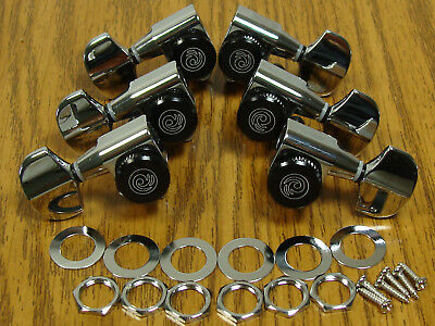 NEW Planet Waves Auto Trim Locking CHROME TUNERS 3x3 Tuning Pegs Guitar
