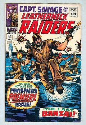 Captain Savage and His Leatherneck Raiders #1 January 1968 FN- 1st issue