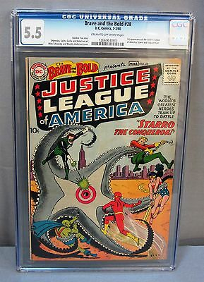 THE BRAVE & THE BOLD #28 (1st Justice League and Starro) CGC 5.5 DC Comics 1960