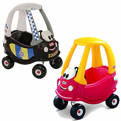 Little Tikes Red Cozy Coupe Police Ride On Car Kids Childs Outdoor/Indoor Garden
