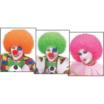 Neon Afro Wig Big Jumbo Clown Costume Accessory Adult Halloween
