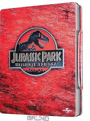 3 Blu-ray: Jurassic Park - Ultimate Trilogy, Limited Steelbook Edition(B2/38/10)