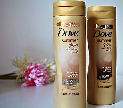 Dove Summer Glow Nourishing Self Tan Lotion Fair To Normal / Medium Skin 250ml