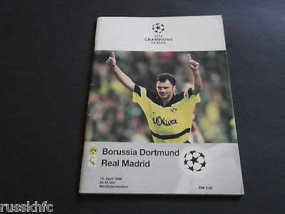 1998 Champions League Semi Final Borussia Dortmund V Real Madrid