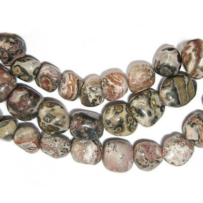 Strand Of 40+ Red Leopardskin Jasper Approx 8mm Smooth Nugget Beads GS3751