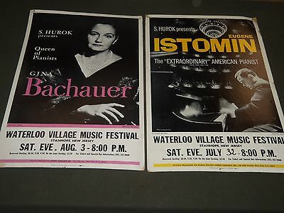 1960's Waterloo Village Music Festival Poster Lot Of 4-Cliburn - Istomin - P 116