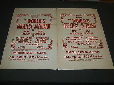 1970's Waterloo Music Festival World's Greatest Jazzband Poster Lot Of 2 - P 117
