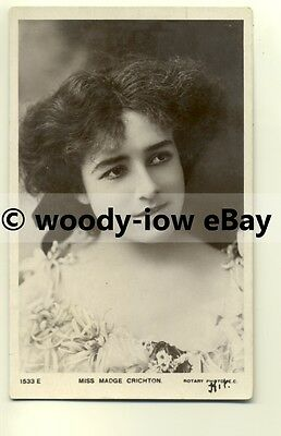b2062 - Stage Actress - Madge Crichton - postcard