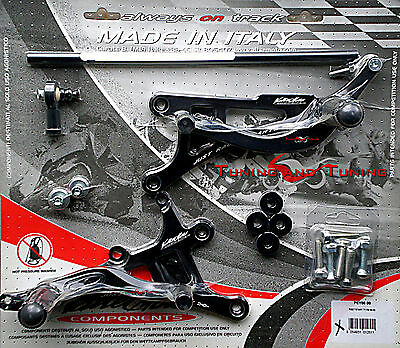 Commandes Reculees Valtermoto Type 1  Pour Yamaha Yzf R6 600 1999 2000  (Pey06)