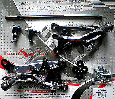 Commandes Reculees Valtermoto Type 1  Pour Yamaha Yzf R6 600 2012 2013 (Pey45)