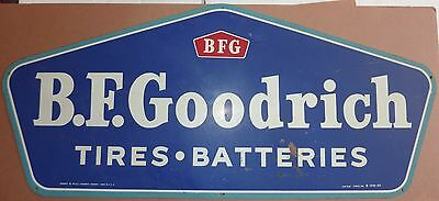 Vintage 1960's Metal Painted Sign BFGoodrich Tires & Batteries