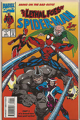 THE LETHAL FOES OF SPIDER-MAN # 1 * 1993 * NEAR MINT * Scott McDaniel art