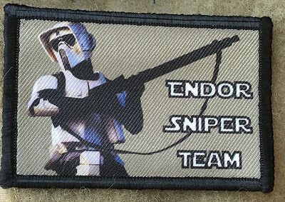 Star Wars Endor Sniper Team Morale Patch Tactical Military Army Badge Hook Flag
