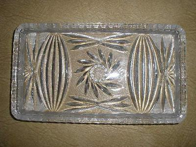 Small Patterned Glass Serving Dish
