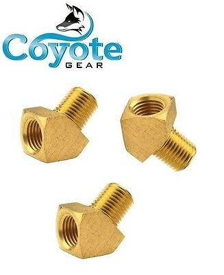 "3 Pack of 1/8"" Street 45 Degree Elbow Brass Pipe Fitting NPT Thread Male  Female"