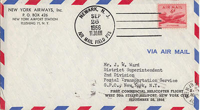 US cover NY City Newark NJ First Commercial Helicopter Flight 1956