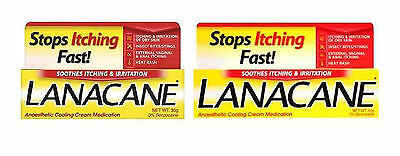 Lanacane Medicated Haut creme Tube 30g, 60g