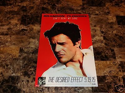 Brandon Flowers Rare Solo Promo Poster The Desired Effect The Killers Pop Rock