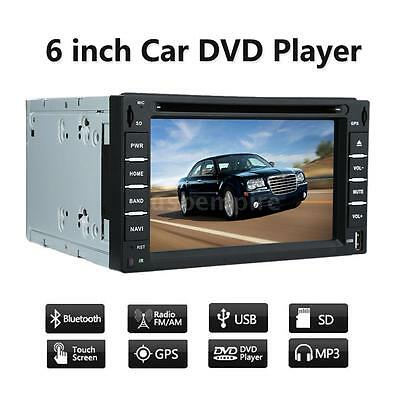 "6"" 2 Din HD Car DVD USB SD Player GPS Navigation Bluetooth AM/FM/RDS Radio T6N6"