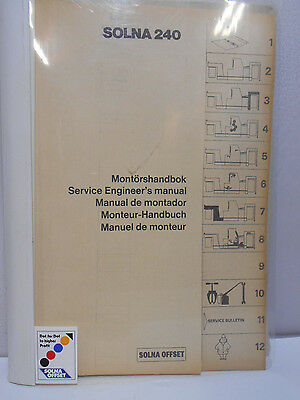 SOLNA 240 Printing Equipment Service Engineers Manual
