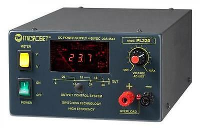 Adjustable Switching stabilized power supply 4-30V 20A - Microset PL330