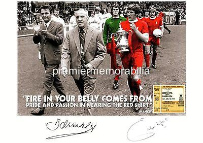 Liverpool Fc Bill Shankly & Emlyn Hughes Signed (Printed) 1974 Last Game Print