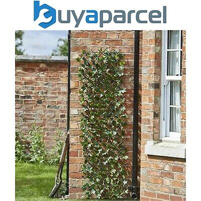 Gardman 02881 60cm x 180cm Expanding Birch Leaf Trellis Wheelie Bin Screen