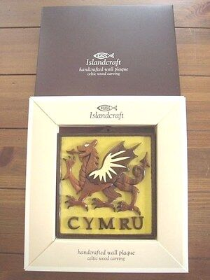 The Welsh Dragon handcrafted wooden Wall Plaque, boxed