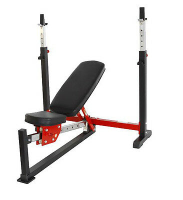 EVINCO Commercial Adjustable Olympic Weight Bench Incline/Decline Shoulder Press