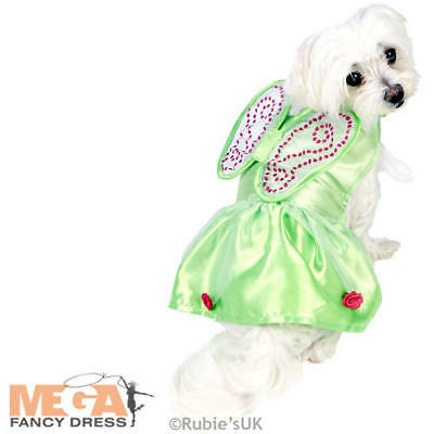 Tinker Bell Dog Fancy Dress Disney Fairy Pet Puppy Animal Cartoon Costume Outfit