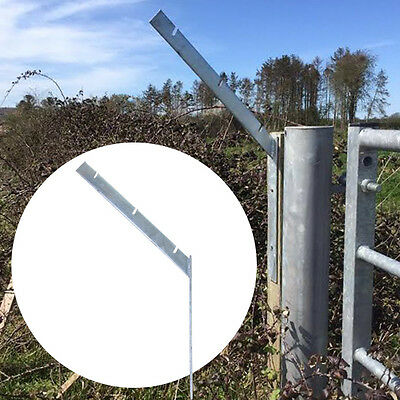 Barbed Razor Wire Bracket Front Facing Galvanised Steel Security Protection NEW