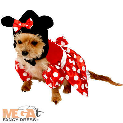 Minnie Mouse Dog Fancy Dress Disney Pet Puppy Animal Cartoon Costume Outfit New