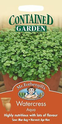 Mr Fothergills - Pictorial Packet - Herb - Watercress Aqua - 1000 Seeds