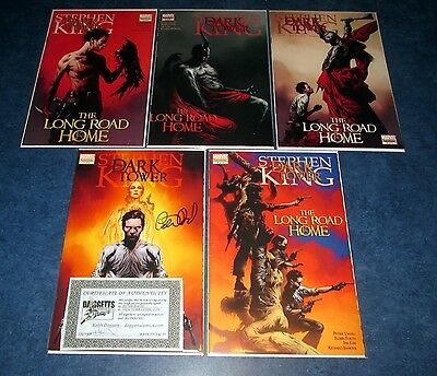 stephen king THE DARK TOWER the long ROAD HOME #1 2 3 4 5 1st print MARVEL set