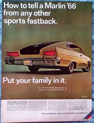 1965 American Motors Marlin How To Tell From Other Sports Fastback Family In ad