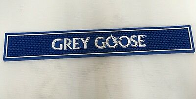 "NEW Grey Goose Bar Rail Spill Mat Blue 23.75"" x 3.5"""
