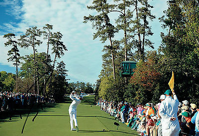 Danny WILLETT Augusta Masters SIGNED Autograph 12x8 Golf Photo 8 AFTAL COA