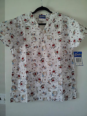 NWT Cherubs Scrub Top - XS