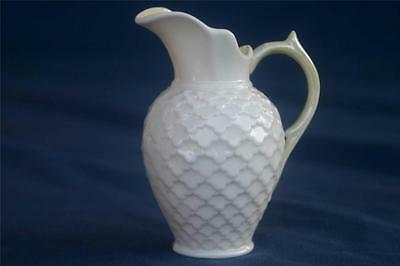 Belleek Rathmore Creamer Luster Handle and Inside Green Mark
