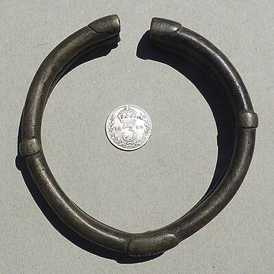 a nice old copper alloy african bracelet currency nigeria #66