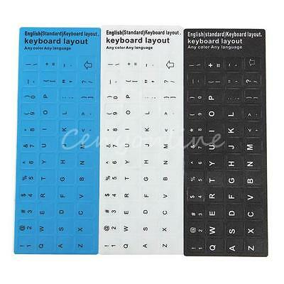 3 Colors English UK US Standard Non-transparent Keyboard Layout Sticker Durable