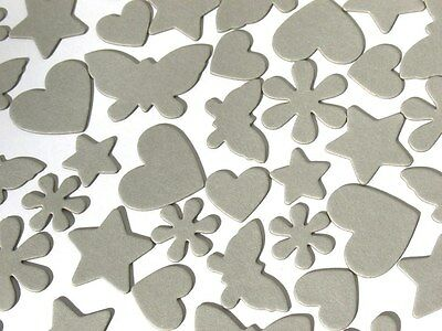 Silhouette - Assorted Chipboard Die Cuts - Stars, Butterflies, Hearts and Flower