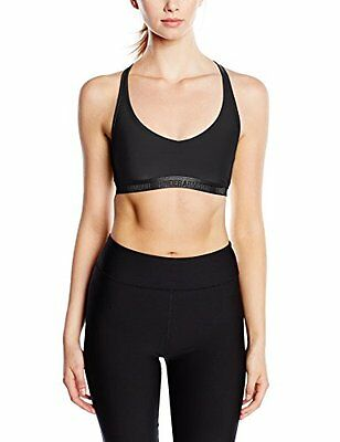 Under Armour, Top sportivo Fitness Donna, Nero (Blk), S