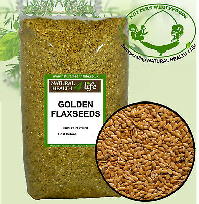 Organic Golden Flaxseed /Linseed (Flax Seed /Lin seeds) 25g to 25kg Post Free