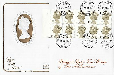 (85099) GB Cotswold FDC 1st Millennium Definitives - Windsor 6 January 2000